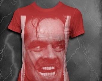 Here's Johnny shirt Womens T-Shirt Softstyle tshirt Womens shirt Jack Nicholson tshirt