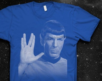 Mr. Spock Vulcan Salute Softstyle Cotton Shirt