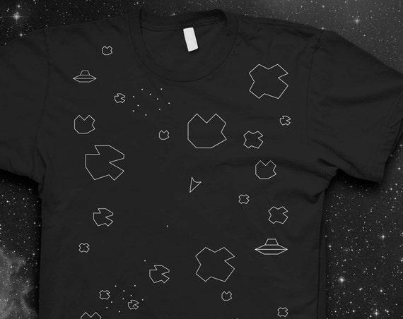 Asteroids Atari T-shirt Mens shirt Atari Tshirt Retro Video game shirt