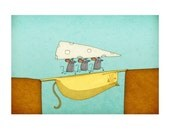 THREE BLIND MICE - high quality print - signed by the artist Jesse Kuhn