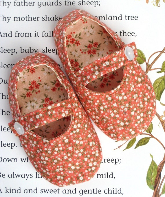 Mary Jane Baby Shoes PDF PATTERN