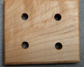 Maple four-hole plying template for spinners (No. 7)