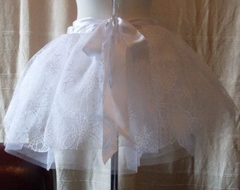 White Spider Web Fairy Tutu