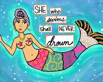 8x10 PRINT: She Who Swims