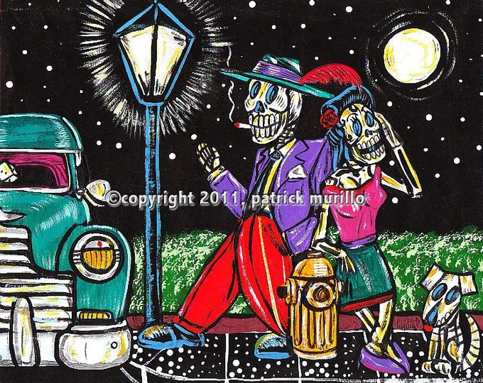 DAY of the DEAD PRINT: Pachuco Love