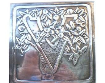 Letter V made of pewter