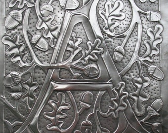 PEWTER MONOGRAM LETTER A