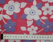SALE - Seventies vintage floral fabric