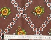 Seventies vintage floral fabric
