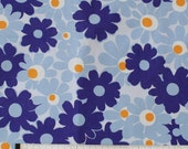 Seventies vintage floral fabric - 130x65 cm.