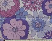 Seventies vintage floral fabric 120x28 cm.