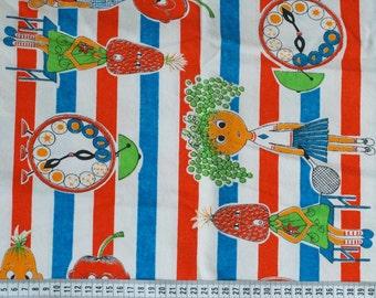SALE - Seventies vintage childrens fabric