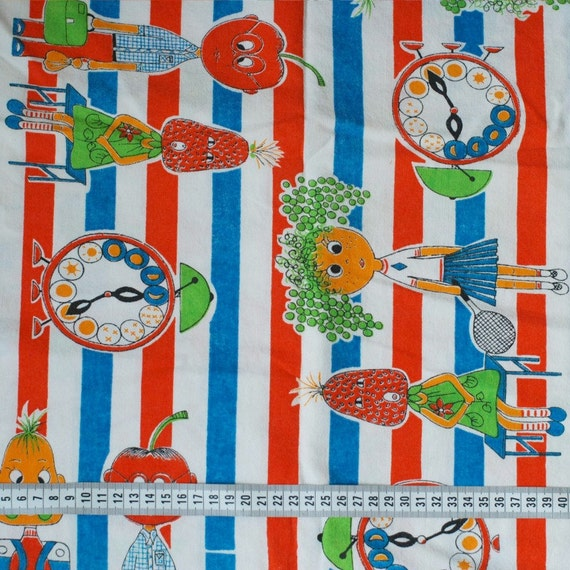 Sale seventies vintage childrens fabric from for Childrens fabric sale