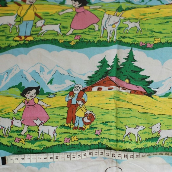 Sale seventies vintage childrens fabric from frausvensson for Childrens fabric sale