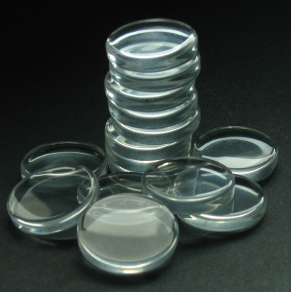 """Reserved Listing for Cathy - Clear Glass Circles - Set of 48 - 1"""" (25mm) **No Chips, Cracks, or Scratches** - Crystal Clear Jeweler's Glass"""
