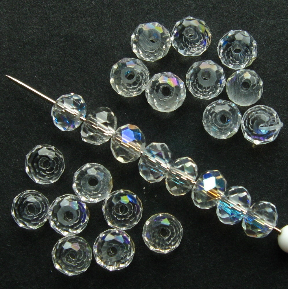 4mm clear crystal rondelle beads set of 70 faceted clear crystal glass beads cbd0008 from. Black Bedroom Furniture Sets. Home Design Ideas