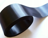 Black Ribbon, Single-Faced Black Satin Ribbon 2 inches wide x 10 yards