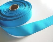 Blue Ribbon, Light Peacock Blue Grosgrain Ribbon 1 1/2 inches wide x 12 yards, Offray Turquoise Ribbon, 50% Off Sale