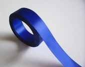 Blue Ribbon, Double-faced royal blue satin ribbon 7/8 inch x 10 yards SECOND QUALITY FLAWED