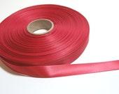 Red Ribbon, Single-faced red satin ribbon 5/8 inch x 5 yards