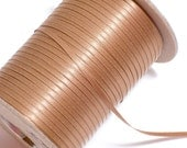 Brown Ribbon, Double-faced light caramel brown satin ribbon 1/8 inch wide x 10 yards, Double Face Satin