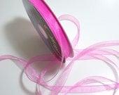 Pink Ribbon, Pretty Pink Organza Ribbon 5/8 inch wide x 10 yards