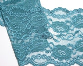 RESERVED FOR ITSAGIRLTHINGETC Jade Green Stretch Lace Elastic 6 inches wide