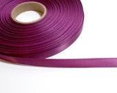 Dark raspberry satin ribbon 3/8 inches wide Single-Faced x 7 yards CLEARANCE