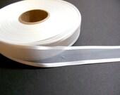 White Ribbon, White Satin Edge Organza Ribbon 7/8 inch wide x 10 yards