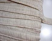 Vintage Beige Brush Fringe Sewing Trim 1 1/2 inches wide x 1 yard precut
