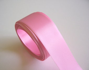 Pink Ribbon, Double-Faced Bubble Gum Pink Satin Ribbon 1 1/2 inches wide x 50 yards, Offray Pink Ribbon