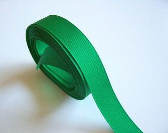 Green Ribbon, Kelly Green Grosgrain Ribbon 7/8 inch wide x 10 yards