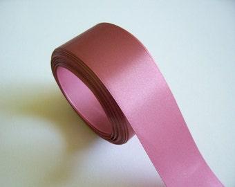 Pink Ribbon, Offray Primrose Satin Ribbon 1 1/2 Inches Wide x 50 yards, Full Bolt, Single-Faced Pink Ribbon