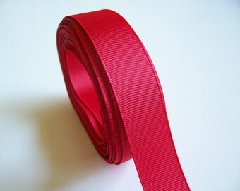 Red Ribbon, Red Grosgrain Ribbon 7/8 inch wide x 10 yards, Offray Red Ribbon, SECOND QUALITY FLAWED
