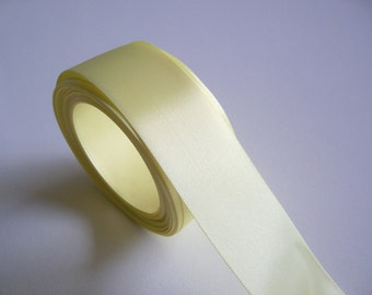 Yellow Ribbon,  Single-Faced Daisy Yellow Satin Ribbon 1 1/2 inches wide x 10 Yards