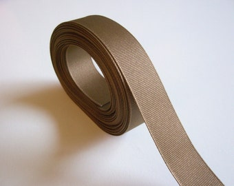 Brown Ribbon, Light Brown Grosgrain Ribbon 7/8 inch wide x 10 yards