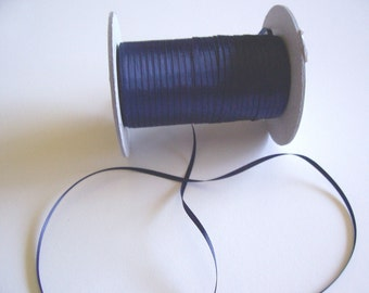 Navy Blue Ribbon, Navy Blue Double-Faced Satin Ribbon 1/8 inch wide x 10 yards, White satin 1/8 inch wide