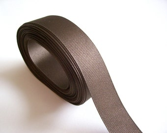 Brown Ribbon, Brown Grosgrain Ribbon 1 inch wide x 10 yards, Offray Ribbon