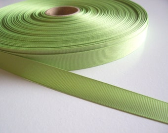 Green Ribbon, Key Lime Green Grosgrain Ribbon 5/8 inch wide x 5 yards