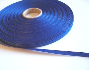 Blue Ribbon, Dark Blueberry Grosgrain Ribbon 1/4 inch wide x 10 yards