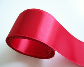 Red Ribbon, Offray Red Double-Faced Satin Ribbon 2 1/4 inch wide x 10 yards, Wide Red Ribbon