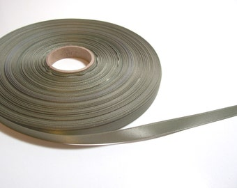 Green Ribbon, Army Green Satin Ribbon 3/8 inch wide Double-Sided x 14 yards, 50 % Off Sale