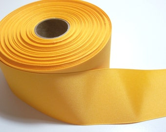 Yellow Gold Ribbon, Offray Yellow Gold Grosgrain Ribbon 2 1/4 inches wide x 50 yards