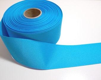 Blue Ribbon, Peacock Blue Grosgrain Ribbon 2 1/4 inches wide x 5 yards precut, 50% Off Sale