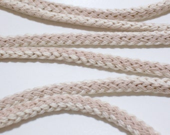 Beige Cord, Beige and Taupe Rope Cording Sewing Trim 3/8 inch wide x 5 yards