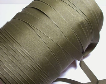 Green Ribbon, Soft Olive Grosgrain Ribbon 7/8 inch wide x 10 yards