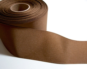 Wide Brown Ribbon, Light Brown Grosgrain Ribbon 2 1/4 inches wide x 4 yards