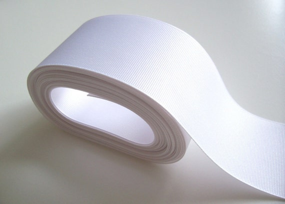 White Ribbon, Offray White Grosgrain Ribbon 2 1/4 inches wide x 10 yards