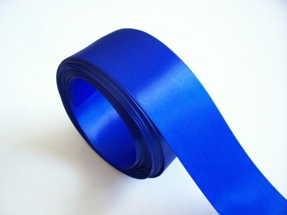 Blue Ribbon, Offray Royal Blue Satin Ribbon 1 1/2 inches wide x 10 yards, Single-Face