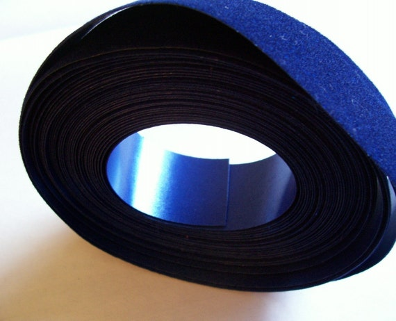 Blue Glitter Veltex Waterproof Florist Ribbon 1 3/8 inches wide x 25 yards on a spool/ Craft Supplies/ Gift Wrapping